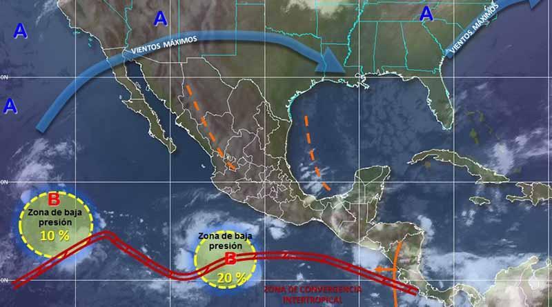 Meteorológico vigila dos zonas de inestabilidad en el océano Pacífico