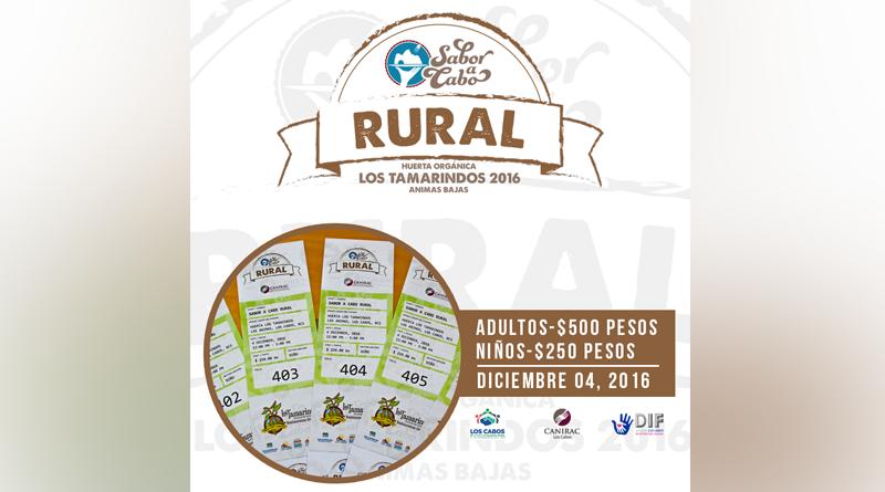 """""""Sabor a Cabo Rural"""" a beneficio del sistema DIF  Los Cabos"""