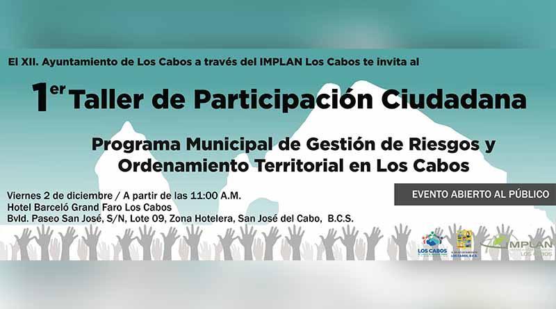 Se invita a la población al primer taller de participación ciudadana