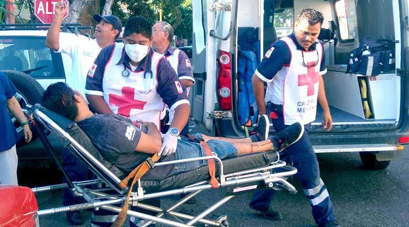 Lesionado al caer de 4 metros de altura en La Paz