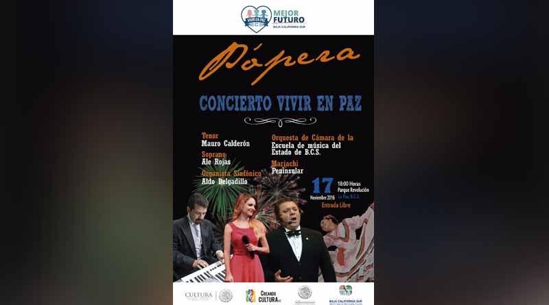 """SEP Invita a la sociedad paceña al concierto internacional de Pópera """"VIVIR EN PAZ"""""""