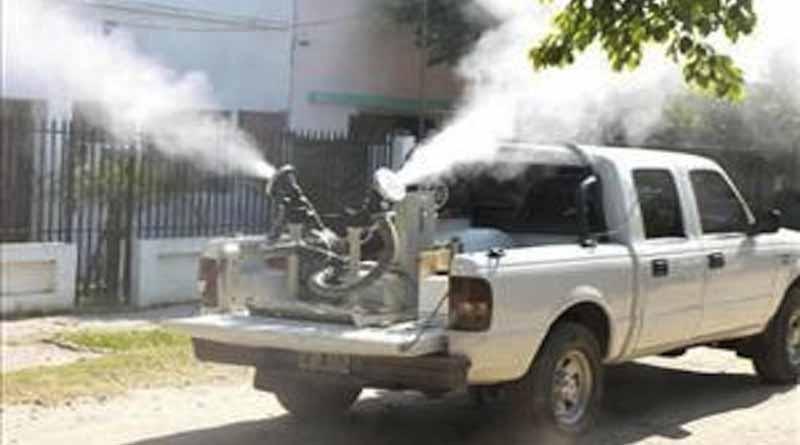 Realizan Fumigación Para Eliminar Zancudo Transmisor de Dengue, Chikungunya y Zika