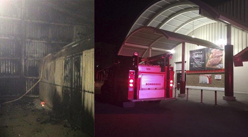 Incendio en bodega abandonada provoca denso humo en tienda City Club de Cabo San Lucas