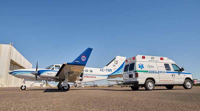 Gobernador entrega la primer ambulancia aérea en la historia médica de BCS