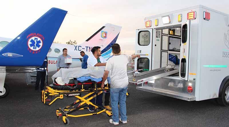 Se realiza primer traslado ambulancia aérea de BCS