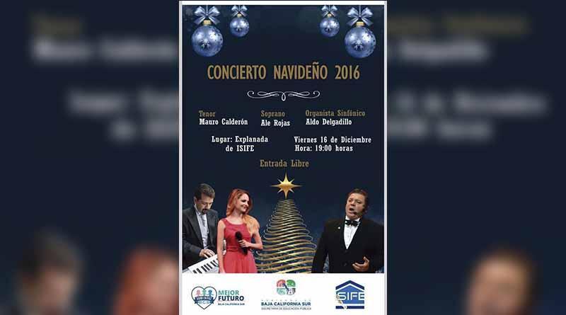 Próximo viernes 16 en jardines de ISIFE presentación del concierto de pópera navideño: SEP
