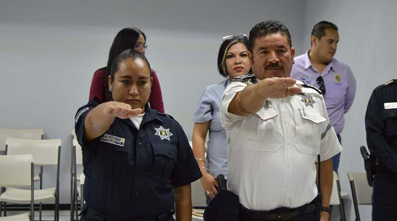 Tomaron protesta elementos policíacos de la Comisión de Honor y Justicia