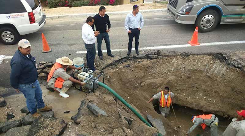 Agua Potable de Los Cabos, trabaja en reparar fugas en acueductos 1 y 2