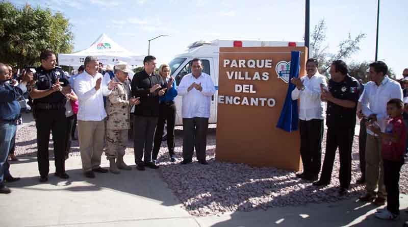 Entrega Carlos Mendoza un parque más recuperado para Vivir en Paz