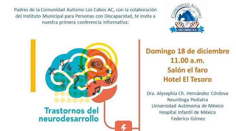 Impartirán conferencia informativa Trastornos del Neurodesarrollo a padres de niños y jóvenes con discapacidad