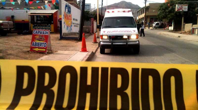 Asesinan a balazos a una persona afuera de car wash en San José del Cabo