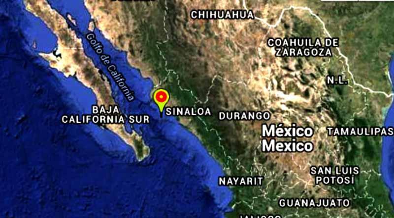 Sismo con magnitud de 4.4 se registra en Sinaloa
