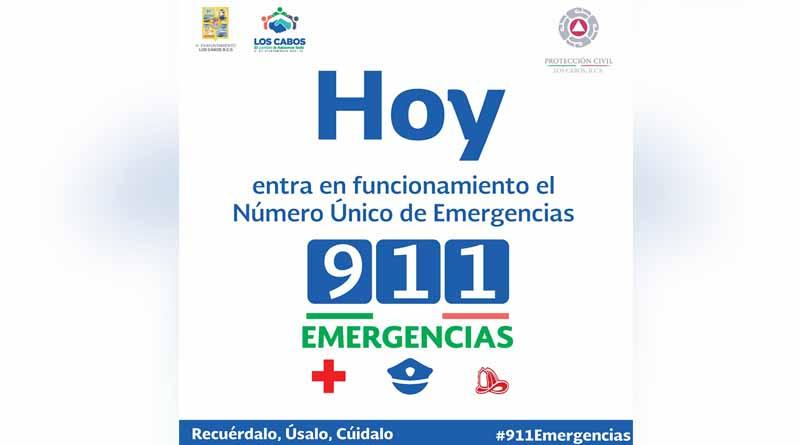 Exhorta Protección Civil Los Cabos a la ciudadanía a usar responsablemente el 911