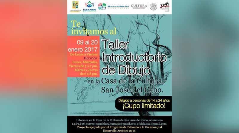 El instituto municipal de cultura y las artes te invita al taller introductorio de dibujo