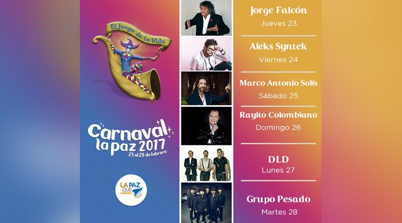 Presentan cartelera oficial del Carnaval La Paz 2017