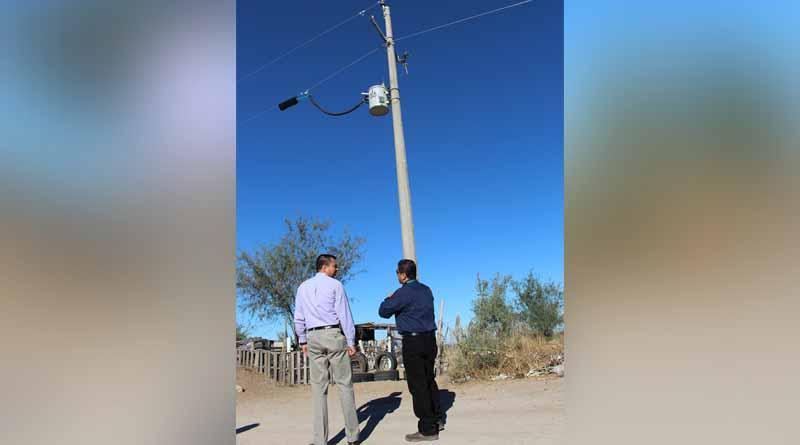243 Habitantes del municipio de La Paz cuentan ya con energía eléctrica
