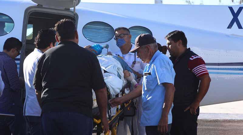 Paciente con traumatismo craneoencefálico fue trasladado a La Paz en la aéreo ambulancia