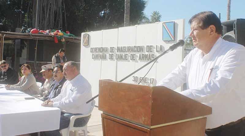 Secretario General Humberto Gutiérrez Pone en Marcha Campaña de Donación de Armas