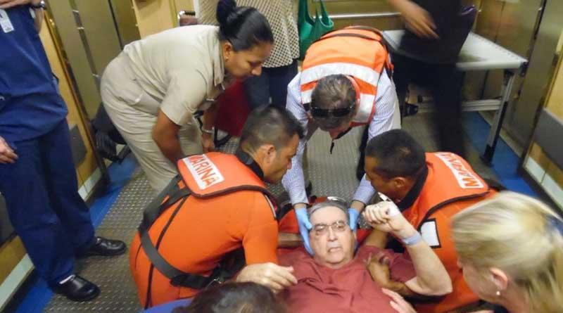 Armada de México realizó evacuación médica a turista de crucero