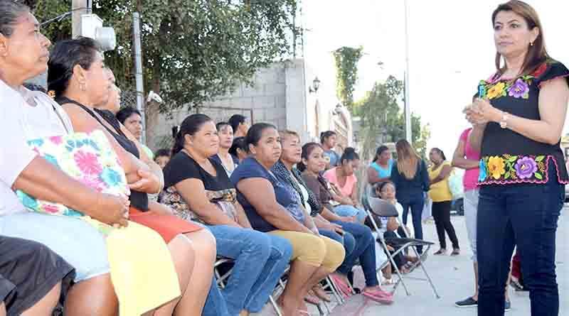 Recorrerá diputada Saldaña  su distrito para levantar necesidades e inquietudes de los vecinos de CSL