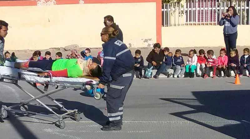 Realiza Ayuntamiento Simulacro de Atropellamiento en Jardín de Niño