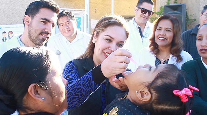 Abandera Vianey Núñez inicio de la 1ª. semana nacional de salud 2017 contra poliomielitis
