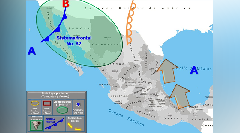 Advierte protección civil fuertes vientos y bajas temperaturas en el norte de la entidad