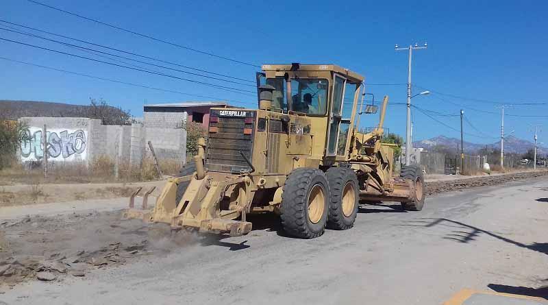Iniciaron los trabajos de reconstrucción de la calle Calafia