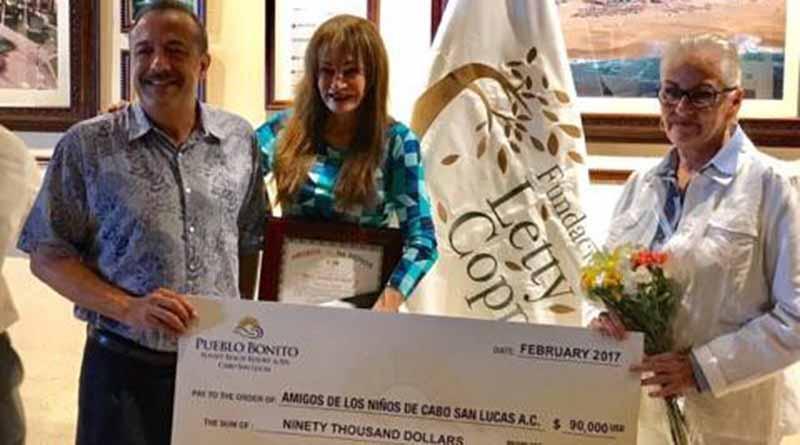 Grupo Pueblo Bonito y Fundación Letty Coppel donan 90 mil usd a Amigos de los Niños AC