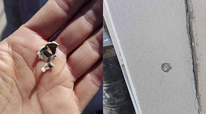 Balacera de carro a carro en El Zacatal, balas pegan en paredes de casas