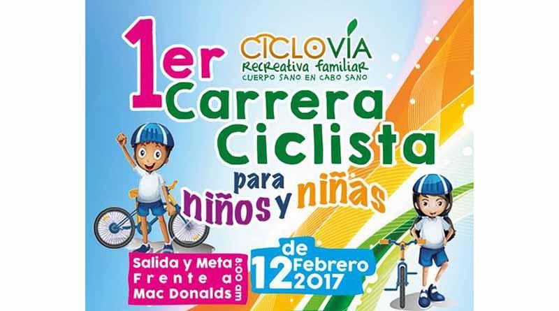 ¡¡Niños de CSL asistan a la  1er Carrera Ciclista Ciclovía Recreativa!!