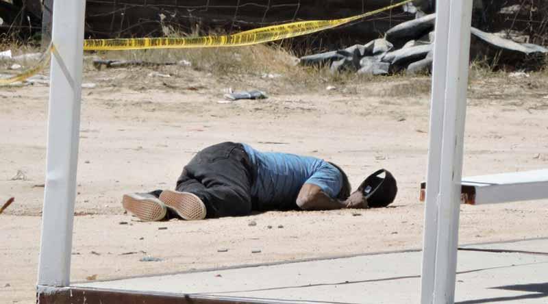 Confirma PGJE 2 personas sin vida por disparo de arma de fuego en San José Viejo