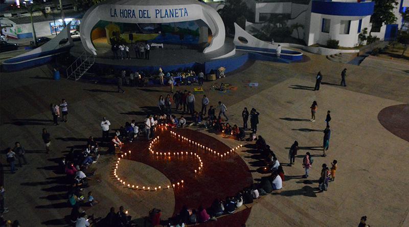 """Se apagaron luces del edifico delegacional y Plaza León Cota Collins en """"La Hora del Planeta"""""""