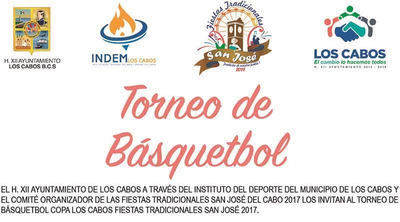 El gobierno municipal invita al Torneo de Básquetbol en SJC