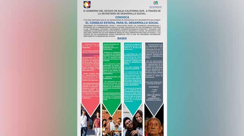 Convoca gobierno ciudadanos a conformar el consejo estatal para el Desarrollo Social