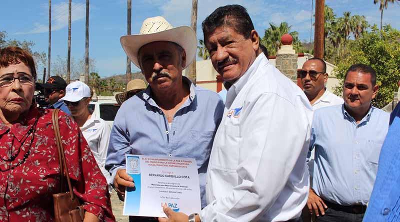 Entregan acciones de apoyo a los habitantes de San Antonio y El Triunfo