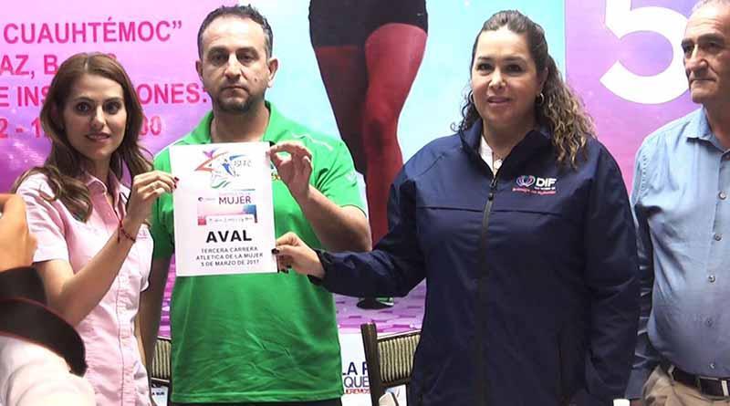Con la 3ra carrera atlética, conmemorará ISM y DIF el Día de la Mujer en La Paz