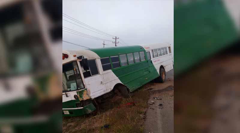 Choque entre camión de jornaleros y particular en El Vizcaíno deja 1 muerto y 3 lesionados