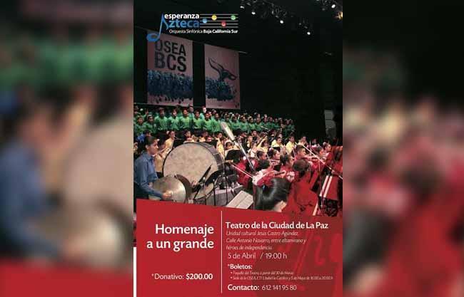 """La Orquesta Sinfónica Esperanza Azteca presentará concierto de beneficiencia """"Homenaje al Divo de Juárez"""""""