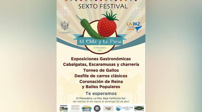 """Invitan al Sexto Festival """"El Chile y la Fresa"""" El Pescadero 2017"""