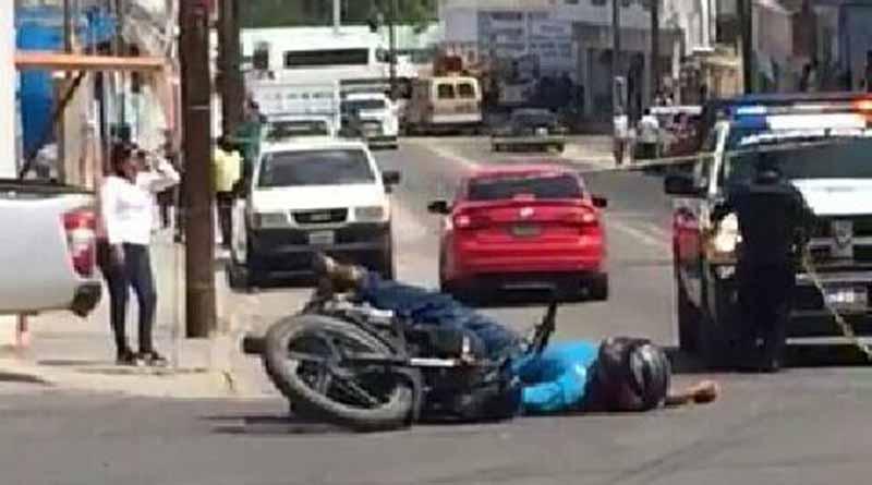 Balean y matan a motociclista en SJC