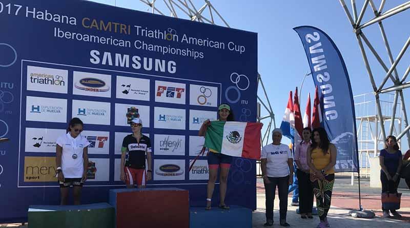 Sudcaliforniana sube al podio en Copa Panamericana de Triatlón celebrada en Cuba