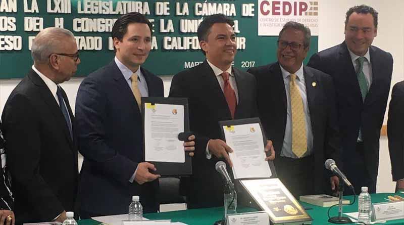 Firman convenio de colaboración el Congreso del Estado y la Cámara de Diputados del Congreso de la Unión