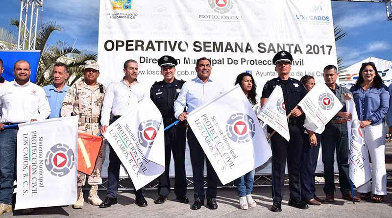 "Encabeza alcalde banderazo  del operativo ""Semana Santa Segura"""
