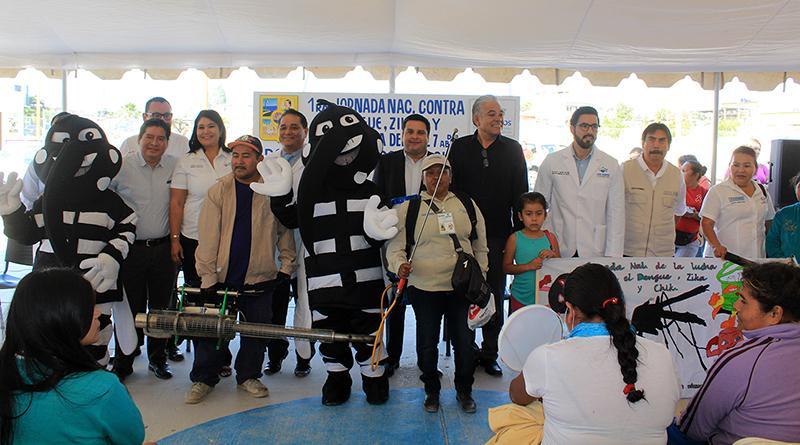 Inicia 1ª. Jornada Nacional de lucha contra el Dengue, Zika y Chikungunya en Lomas del Sol  CSL