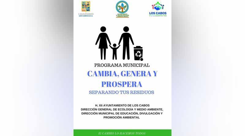 """Hoy inicia el programa municipal """"cambia, genera y prospera"""" en CSL"""