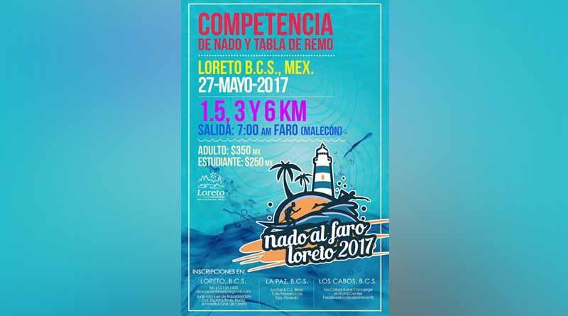 Primera competencia de nado y tabla de remo en LORETO