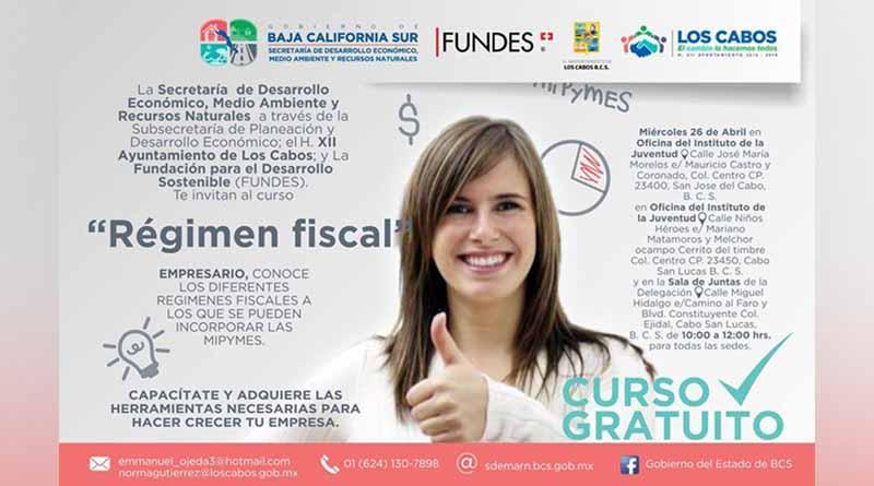 Invitan a curso gratuito régimen fiscal