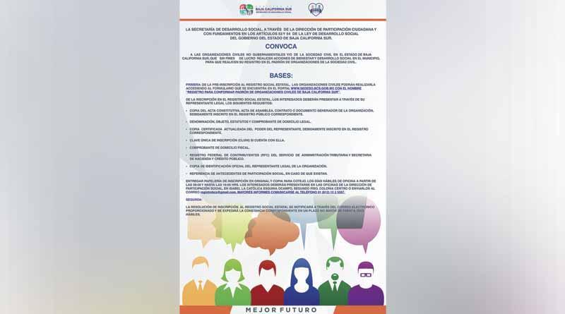 Conformará SEDESO padrón estatal de organizaciones de la sociedad civil