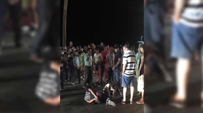 Dejan a joven amarrado de pies y manos en Malecón de La Paz